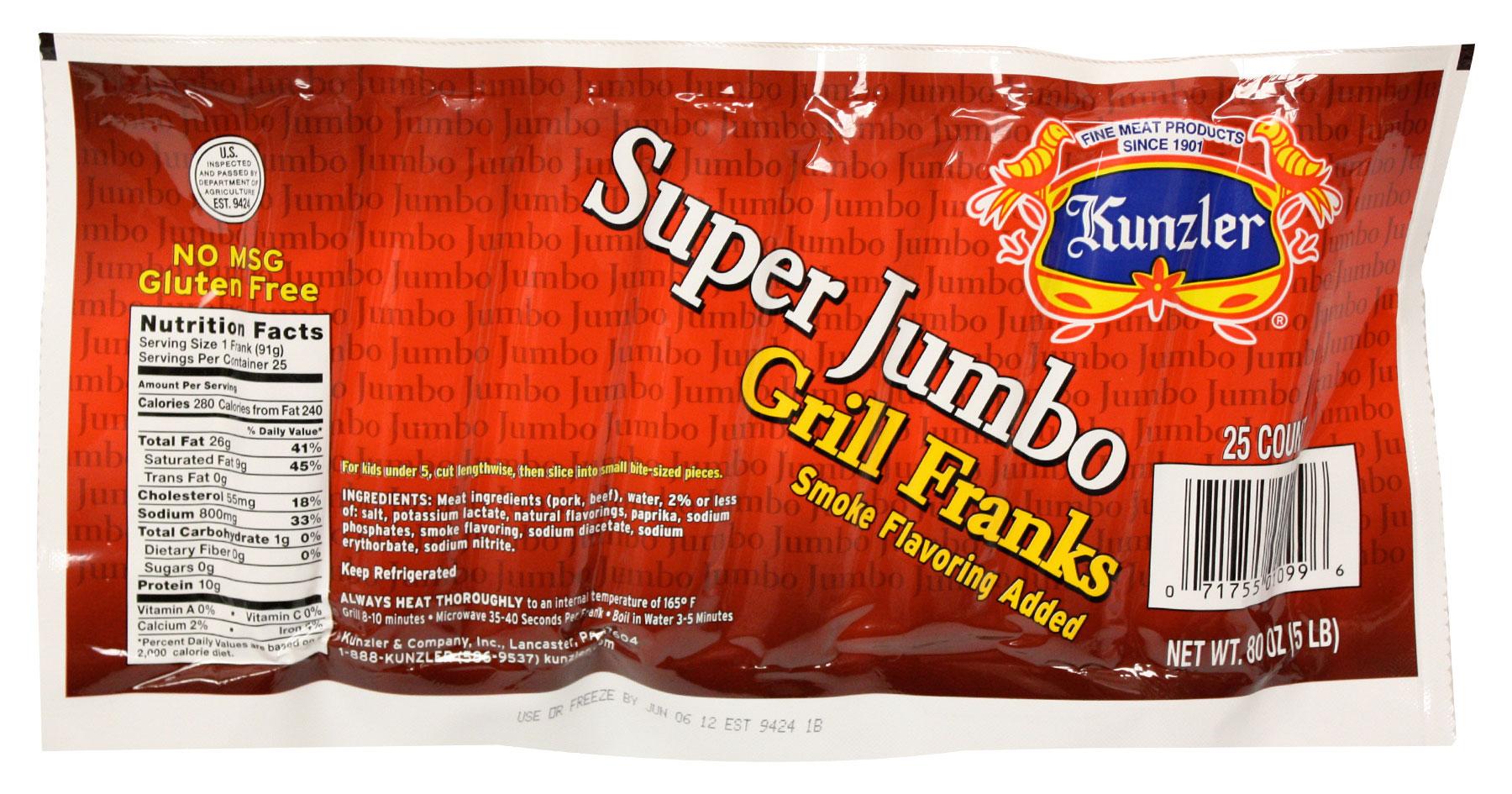 Kunzler Jumbo Hot Dogs