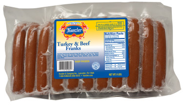 a package of turkey and beef franks