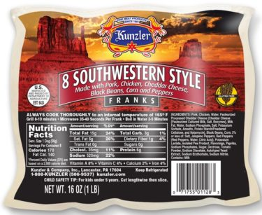 Southwestern Style Franks - Package 03-30-16