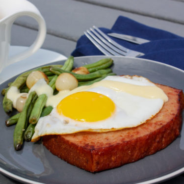 Sunny Side Ham Loaf with Cheese