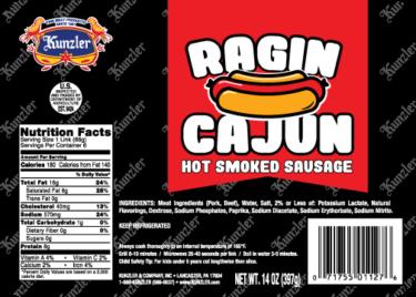 ragin cajun hot smoked sausage