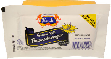 a package of German style braunschweiger