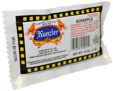 a package of Kunzler scrapple