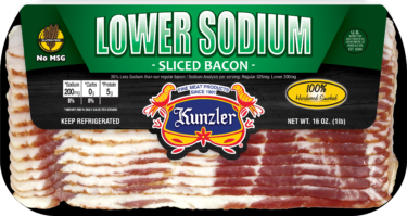 Lower Sodium Bacon package