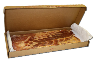 slab of smoked sliced bacon