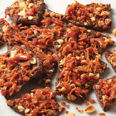 CARAMEL, PEANUT & BACON BARK