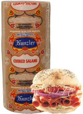 Kunzler loaf of cooked salami