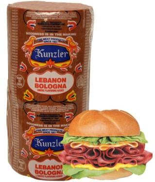 Kunzler loaf of Lebanon bologna
