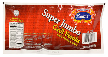 Kunzer super jumbo franks