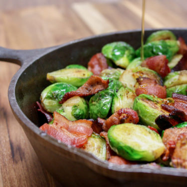 BRUSSELS AND BACON WITH HONEY