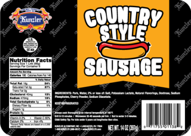 country style sausage package