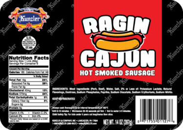 ragin cajun hot smoked sausage