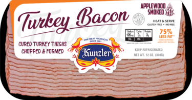 package of kunzler turkey bacon 12 oz