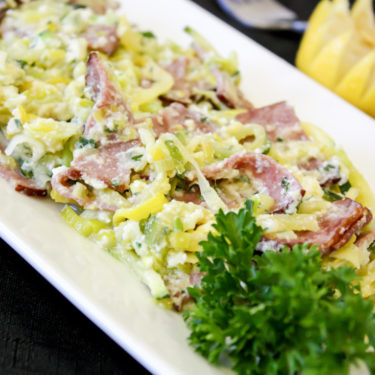 TURKEY BACON CARBONARA